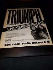 Triumph Rare Original ABC Rock Radio Concert Promo Poster Ad Framed!
