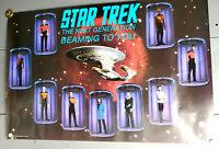 1987 STAR TREK NEXT GENERATION Poster w CREW- Unused  (SVPO-113)