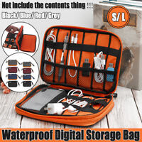 Portable Travel USB Cable Storage Bag Organizer Phone Charger Case Polyester USA