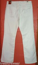 Pierre Cardin 10 Med White BELLA Bootcut Stretch Jeans Low Rise Distress 10M NWT