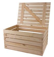 1x Kleine Holztruhe mit Deckel eignet sich für drinnen & draußen