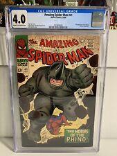 Amazing Spiderman 41 CGC 4.0 First Rhino
