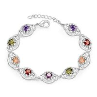 LOVELY SILVER BRACELET WITH 5.00 CTW PERIDOT! 10.7 GRAMS #X24