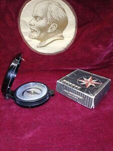 Vintage Soviet compass Turist. Original. USSR .1970