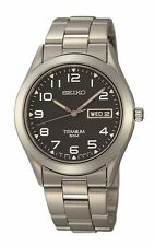 Seiko Quartz (Battery) Titanium Strap Wristwatches