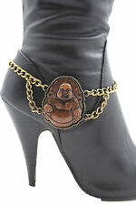 Women Boot Bracelet Metal Chain Gold Fat Buddha India Anklet Bohemian Shoe Charm