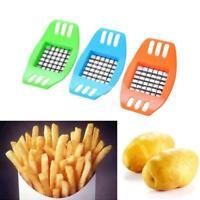 French Fry Potato Chip Cutter Vegetable Fruit Slicer Kitchen Chopper Gadget J5H2