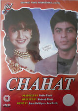 CHAHAT - GVI ORIGINAL BOLLYWOOD DVD-Shahrukh Khan, Pooja Bhatt, Naseeruddin Shah