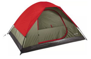 Field & Stream 3 Person Dome Tent 7x6 For Recreational Camping Red Hiking NEW