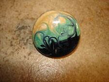 Large wood button art nuevueo style