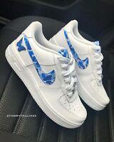 Nike Air Force 1 Custom Size 12 Men **FREE SHIPPING** White Blue