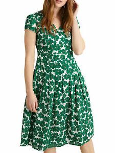 New SEASALT Green Geranium Flower Copse Villa Garden Dress Sizes 8-16 RRP £65