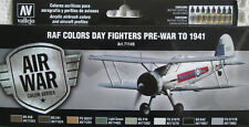 Vallejo Model Air 71149 RAF and FAA Day Fighter Pre War - 1941 Acrylic Paint Set