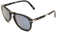 02642d42298 Authentic PERSOL 0714SM - 95 56 Steve McQueen Sunglasses Black  Blue  NEW