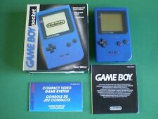 Nintendo GAME BOY POCKET Bleue Boîte + Notice