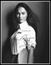 Megan Fox, Autographed, Pure Cotton Canvas Image. Limited Edition (MF-108)