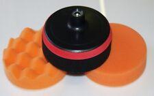 Craft-Equip 150mm Polierset Polierschwamm + Polierteller Polierpads SET-K4