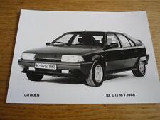CITROEN BX GTI 16V ORIGINAL PRESS PHOTO - BROCHURE RELATED jm