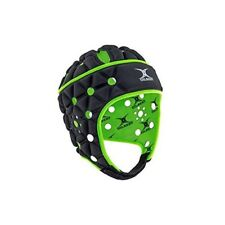 New Gilbert Headgear Air Black Gb - 9541 Rugby Head Cap Irb Approved Japan