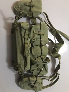 Dragon Action Man 1/6 scale British Army 58 Pattern Webbing and Poncho Roll VGC