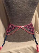 NWT Victoria's Secret Pink & Blue Garter Belt XS/S Sexy Lingerie