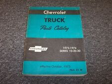 1973 1974 Chevy G & P Series G10 G20 G30 P10 P20 P30 Truck Parts Catalog Manual