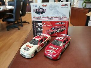 Lot of 2 '01/02 Dale Earnhardt Jr #8 Bud/ MLB 1:32 Diecast Cars Action MIB
