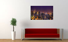 "SHANGHAI NIGHT LARGE ART PRINT POSTER PICTURE WALL 33.1"" x 20.7"""
