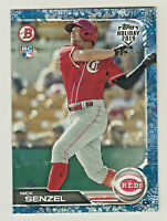 2019 Topps Bowman Holiday BLUE SNOWFLAKE #TH-NS NICK SENZEL RC Rookie 24/50 Reds