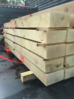 oak railway sleepers  200 x100 x 2600 mm , untreated , new  ,