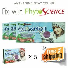 3Pack Phytoscience Snowphyll Anti-Aging, Promote Weight Loss, Beauty Exp 10/2020