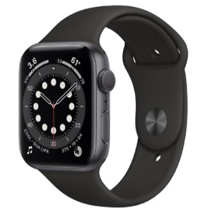 Apple Watch Series 6 40mm Space Grey  - GPS - Black Sports Band .