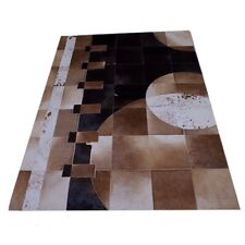 New Design cowhide leather patchwork rug leather carpet size 4x6 mix color