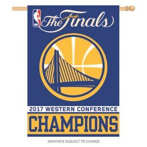 2017 NBA Western Conference Champions Golden State Warriors 28x40 Banner