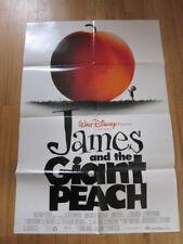 JAMES & THE GIANT PEACH Original 1996 movie poster animation