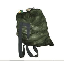 Hunting Decoy Mesh Bag with Shoulder Straps Army Green Duck Goose Bag 94*78cm