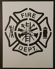 "Fire Department Fire Fighter 8.5"" x 11"" Custom Stencil FAST FREE SHIPPING"