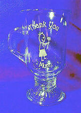 Latte Glass - Thank You Mum & a Little Boy Sand Etched on it.