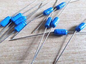 10 Philips KS429 2200pf 160v epoxy coated polystyrene 1% capacitor 2n2 429-42202