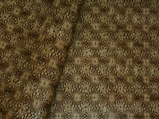 Heavy Weight Vinyl Upholstery Fabric Textured Sunburst - Coppery Brown