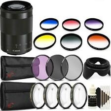 Canon EF-M 55-200mm f/4.5-6.3 IS STM Lens (Black) with Accessory Kit