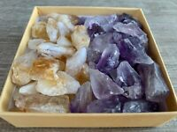 Amethyst Citrine Points: 2 Crystal Collection, 1/2 Lb Box Natural Points