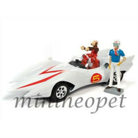AUTOWORLD AWSS124 SPEED RACER MACH 5 FIVE 1/18 & CHIM CHIM FIGURE WHITE
