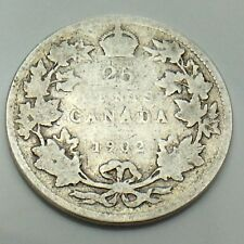 1902 Canada 25 SC Twenty Five Cents Quarter King Edward VII Canadian Coin G146