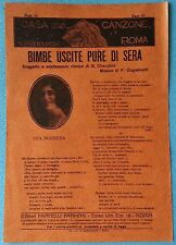 SPARTITO  CHERUBINI, GUGIELMETTI - BIMBE USCITE PURE DI SERA  ED. FRANCHI - 1923