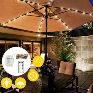 Waterproof 104 LED Patio Umbrella Light Parasol Light Fairy Lights Outdoor