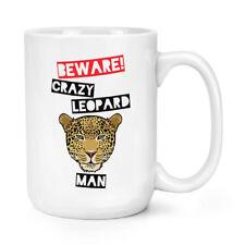Beware Pazzo Uomo Leopardo 426ml Possente Tazza - Divertente Animale Grandi