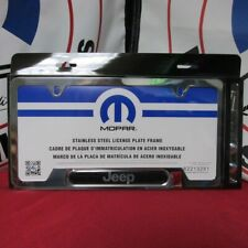 JEEP CHEROKEE COMPASS PATRIOT Bright Polished License Plate Frame NEW OEM MOPAR