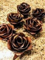Metal Roses, set of 6, rusty iron roses, hacienda, western, craft supplies, art