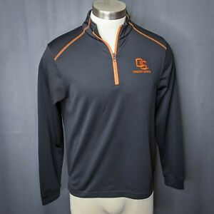 Campus Drive Mens Track Jacket Small Oregon State Pullover 1/4 Zip Knit